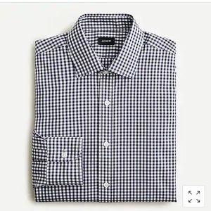 J Crew 100% Cotton Slim Fit Gingham Dress Shirt